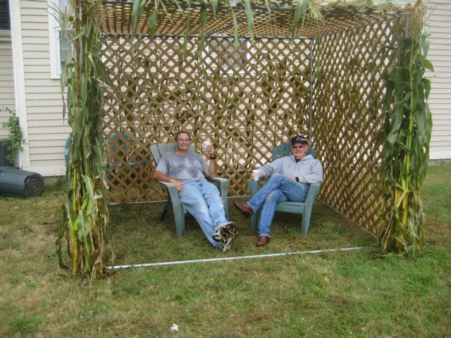 Barry and Ralph, Sukkah construction crew